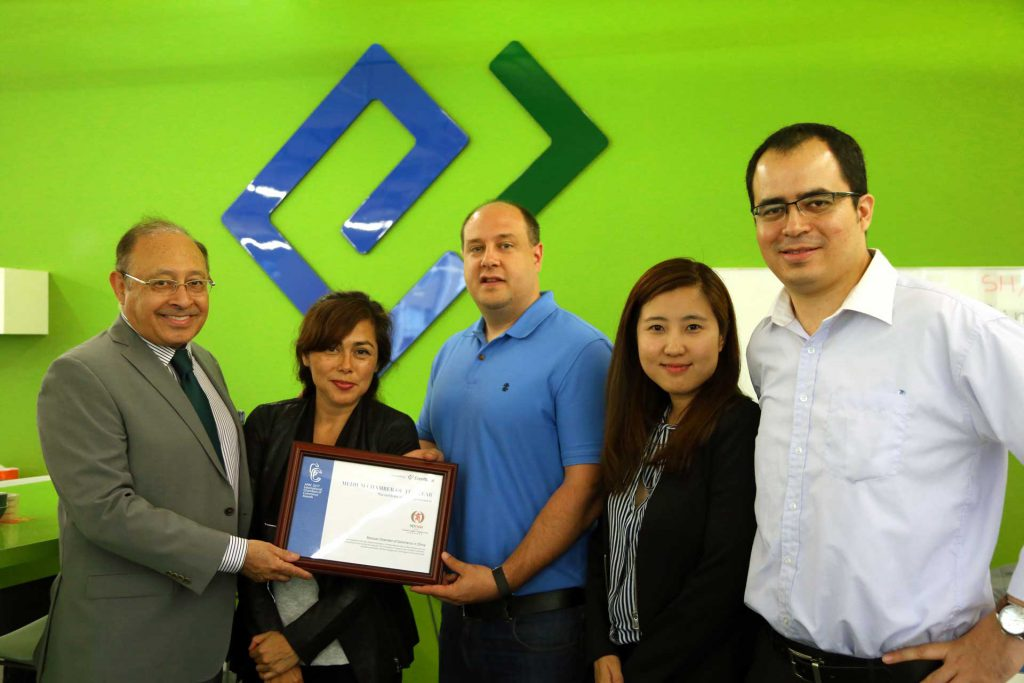 Mexcham China picks up the Award at Glue Up office, Winners of APAC 2017 International Chambers of Commerce Awards