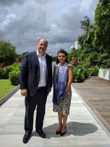 Chloe Taylor from British Chamber of Commerce Myanmar with CEO of Glue Up, chamber management cloud