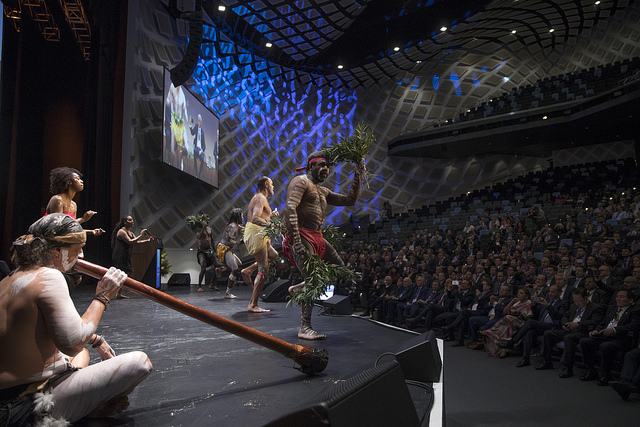 Indigenous Aboriginal Australian dance at 10th World Chambers Congress in Sydney