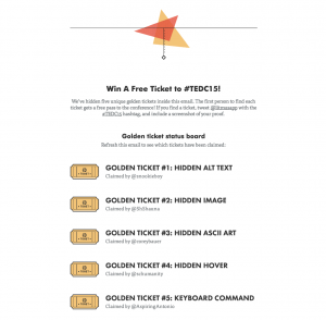 Email contest as a content marketing tactic to get more attendees to your event.