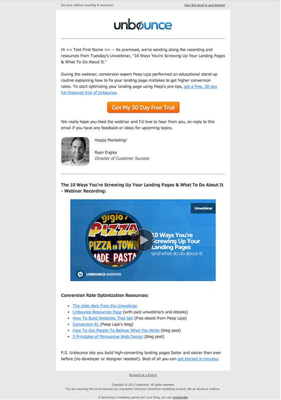 video edm for webinar invites