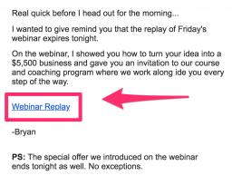 webinar replay email
