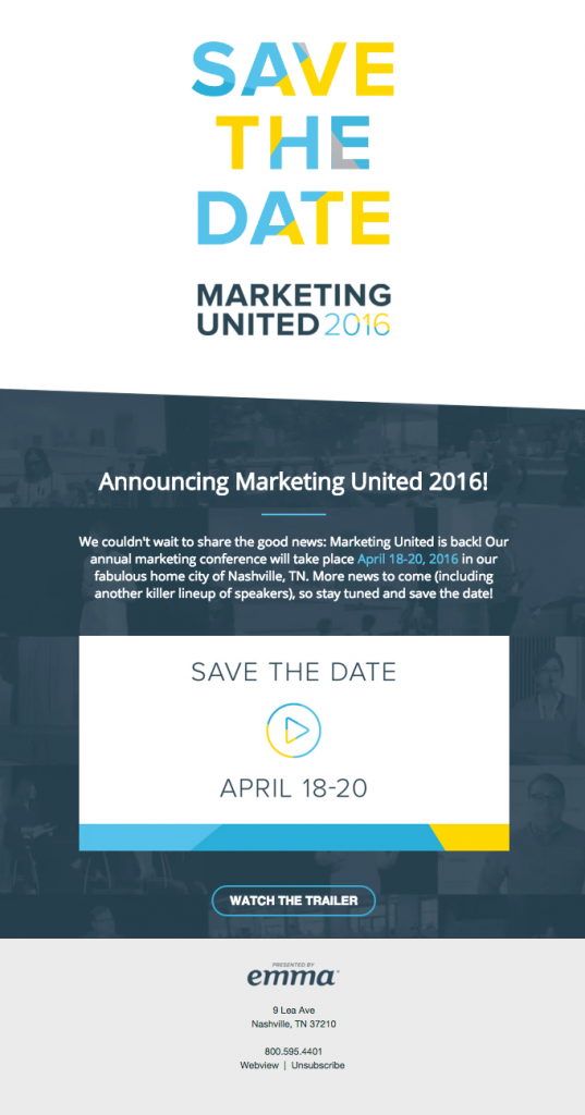 event email video marketing