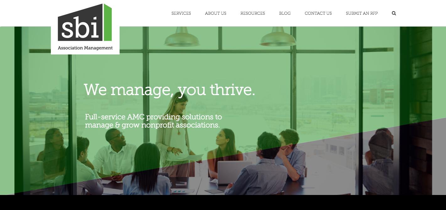 SBI Association Management homepage