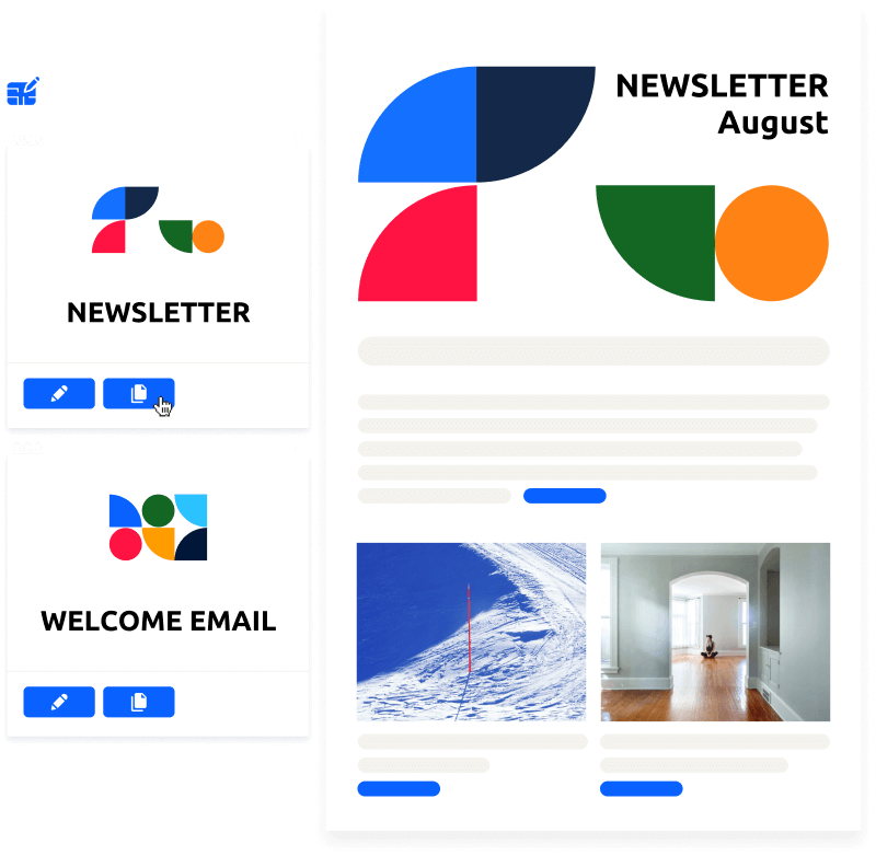 Glue Up email template helps you automate your email marketing campaigns