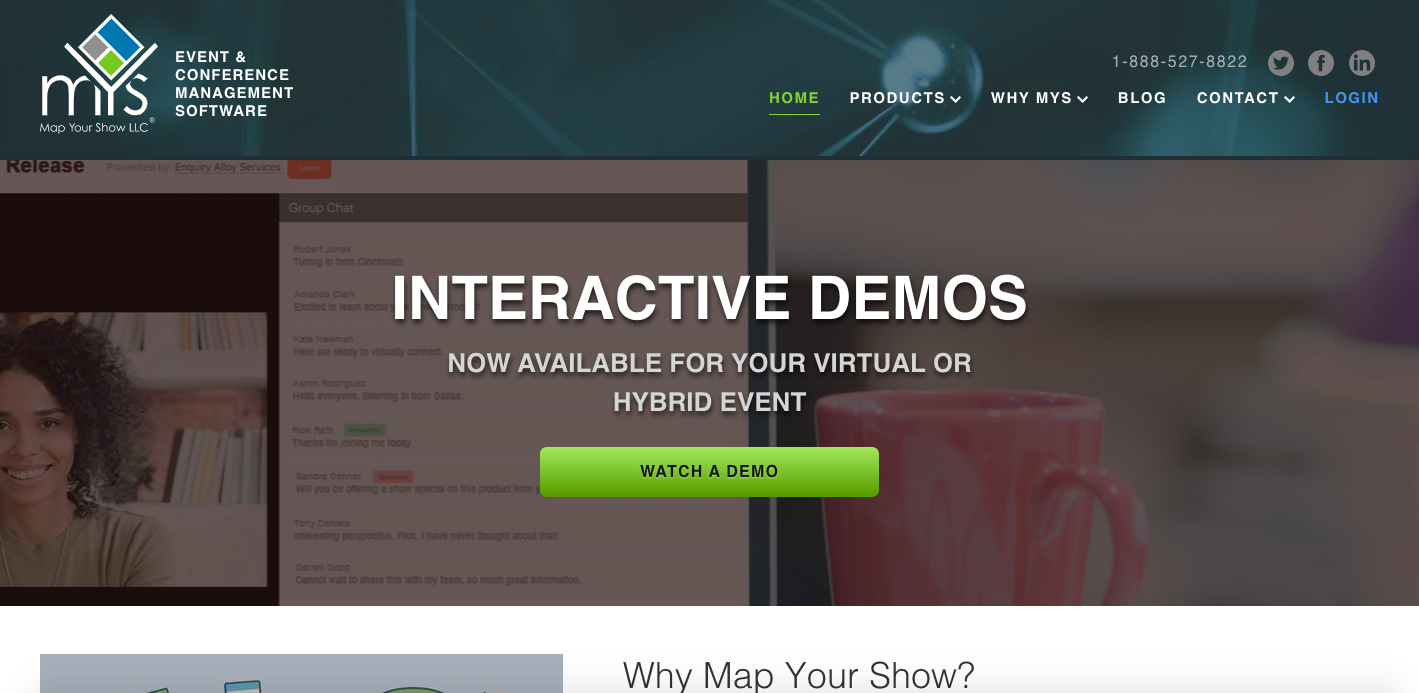 Map Your Show website