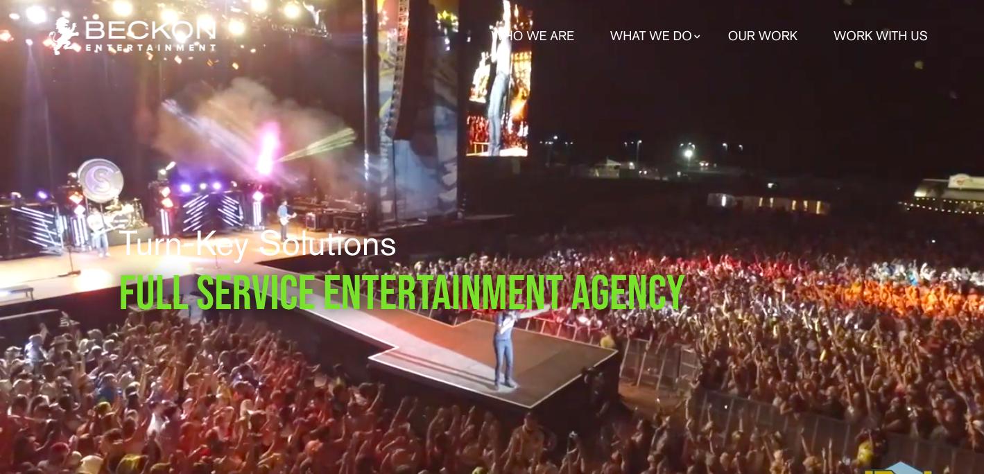 beckon entertainment homepage
