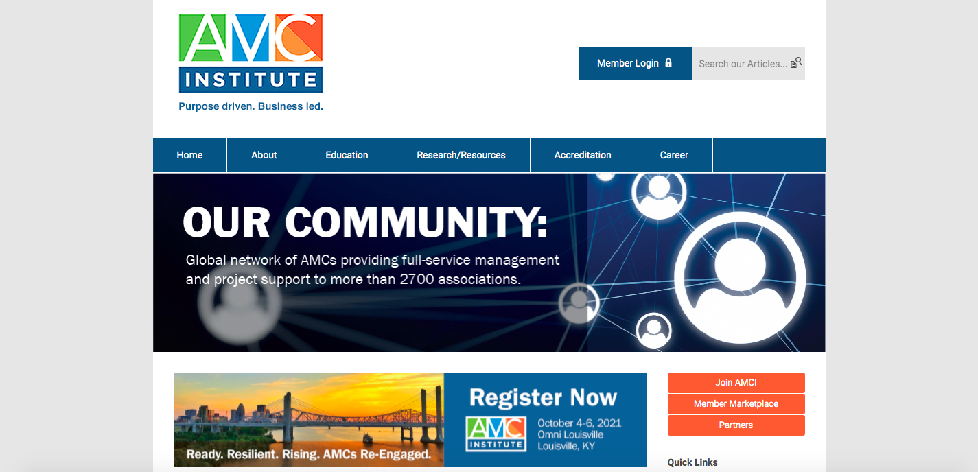 AMC Institute homepage